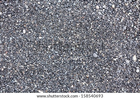 Icelandic Beach Pebbles Background. Horizontal shot - stock photo