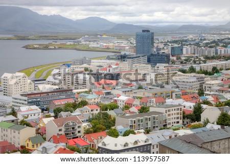 Icelandic capital Reykjavik - stock photo