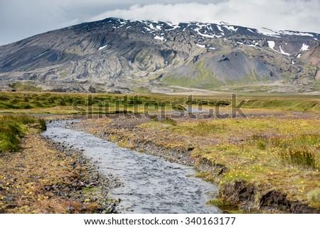Icelandic landscape at Snaefellsnes peninsula - stock photo