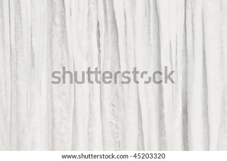 Icicle Pattern Background Horizontal 2 - stock photo