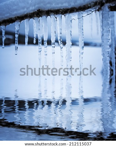 icicles - stock photo