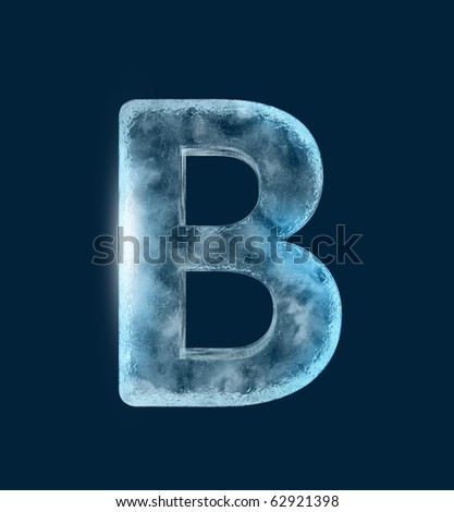 Icing alphabet the letter B - stock photo