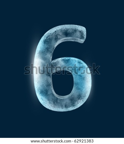 Icing alphabet the number 6 - stock photo