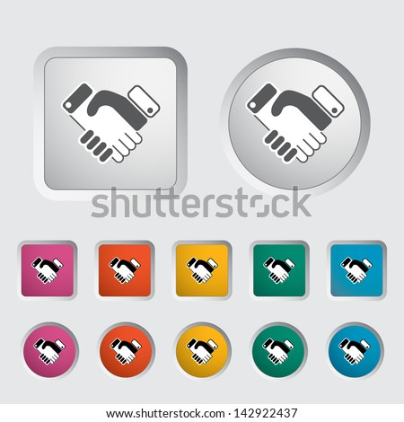 Icon agreement. Vector version also available in my portfolio. - stock photo