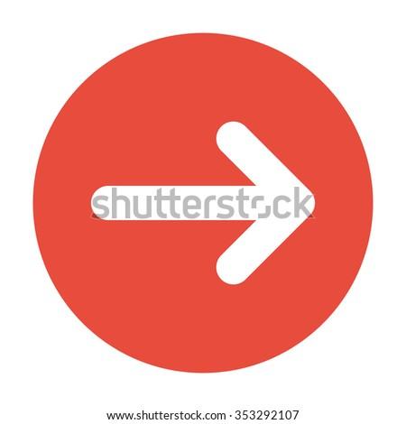 icon arrow. Flat design style - stock photo