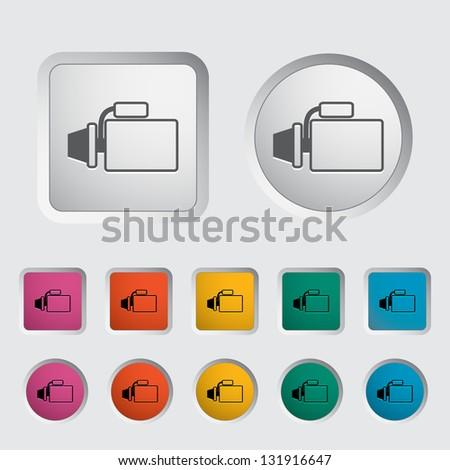 Icon automotive starter. Vector version also available in my portfolio. - stock photo