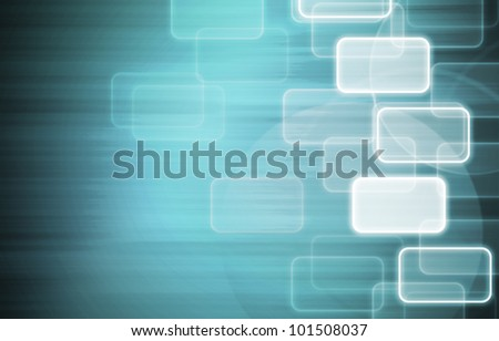 icon blue abstract background. - stock photo