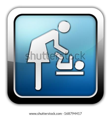 Icon/Button/Pictogram Baby Change - stock photo
