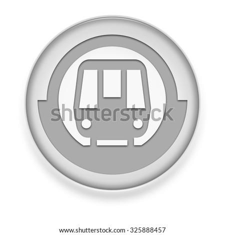 Icon, Button, Pictogram with Subway symbol - stock photo
