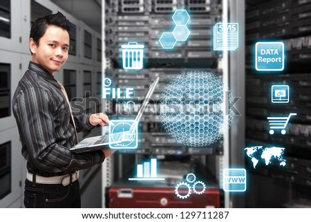 Icon control from programmer - stock photo