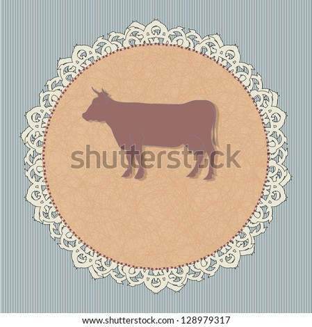 Icon for a restaurant - beef. Rasterized version. - stock photo