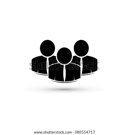 Icon. Group of people - stock photo