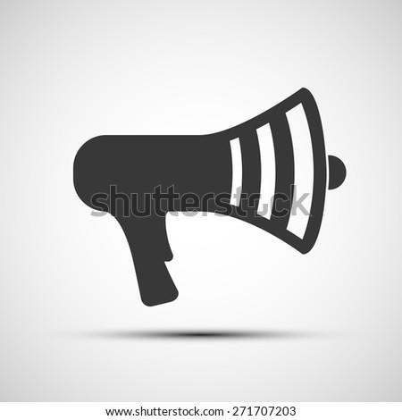 icon megaphone - stock photo