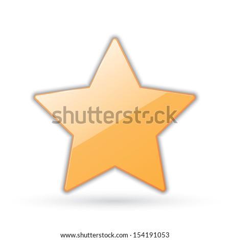 icon of golden star.(rasterized version) - stock photo