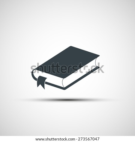 icon of the book - stock photo