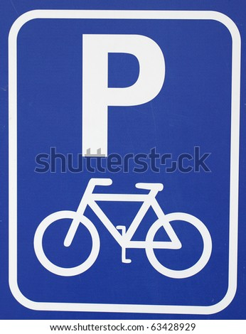 icon parking bicycle sign - stock photo
