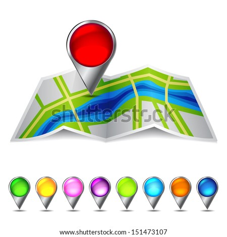 Icon vector map of the city. Raster version. Vector image inside my portfolio  - stock photo