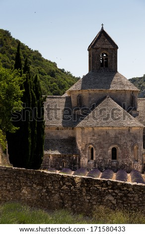 Iconic picture and landmark of Provence France, picture is in vertical position - stock photo
