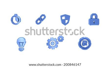 icons - stock photo