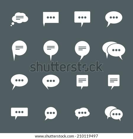 icons chat.  set. - stock photo