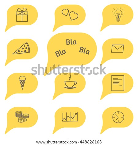 Icons collection for your scene. Raster copy. - stock photo