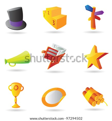 Icons for business metaphor. Raster version. Vector version is also available. - stock photo
