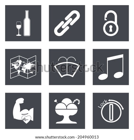 Icons for Web Design and Mobile Applications set 48.  - stock photo