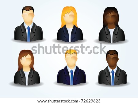 Icons of business people - stock photo