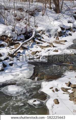 Icy cold water  - stock photo