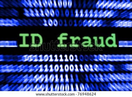 ID fraud - stock photo
