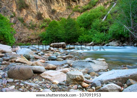 Idaho rafting - stock photo
