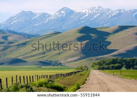 Idaho ranch - stock photo
