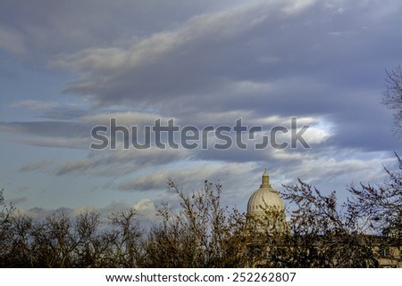 Idaho state capital building dome  - stock photo