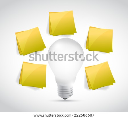 idea brainstorming concept illustration design over a white background - stock photo