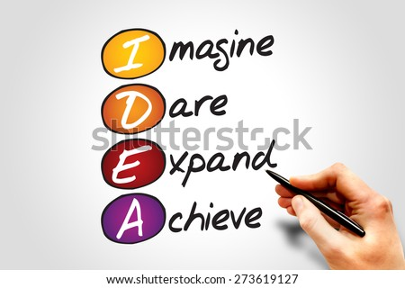 IDEA, business concept acronym - stock photo