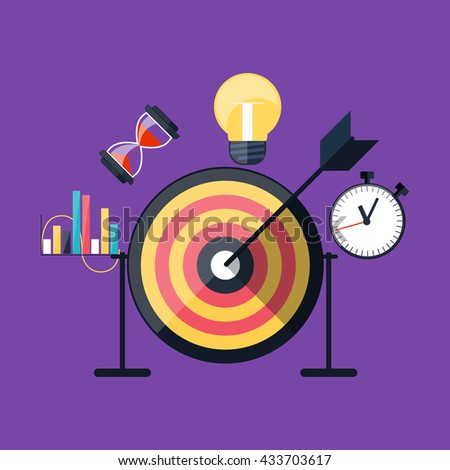 Idea concept background. Glowing light bulb as inspiration concept. Light sign ideas.  lightbulb icon. Creative idea in bulb shape. New idea logo. Arrow hit the center - stock photo