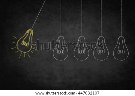 idea concept  -  creativity symbol - good idea illustration  - stock photo