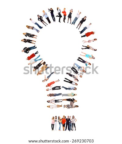 IDEA Concept Standing Together  - stock photo