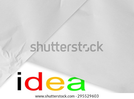 idea concept with paper - stock photo