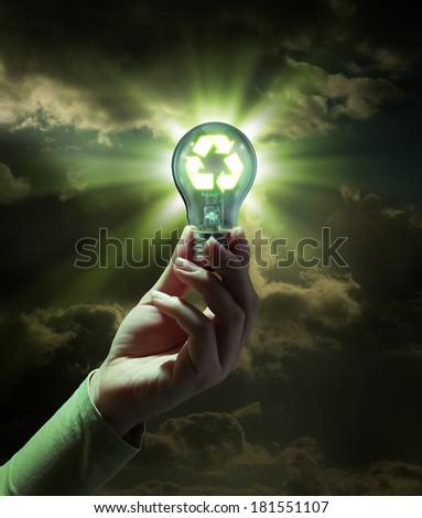 idea green energy - recycle concept  - stock photo