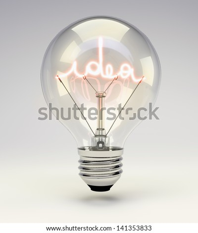 Idea light bulb - stock photo