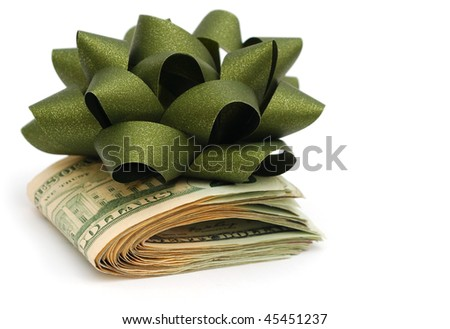 idea of a money gift - stock photo