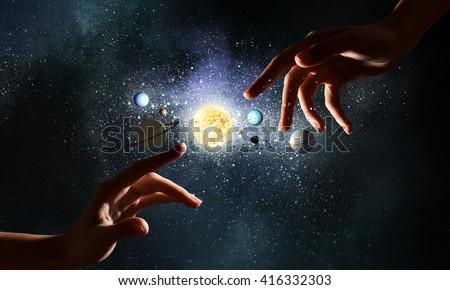 Idea of creation and genesis - stock photo