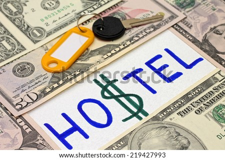 Idea of economy - hostel is alternative to hotel - stock photo