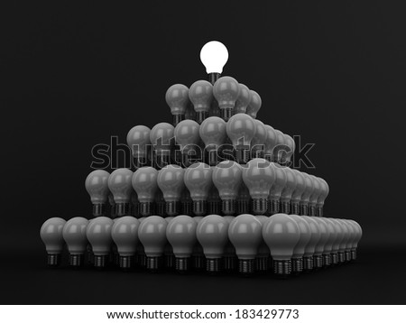 Idea Pyramid | At the Top - stock photo