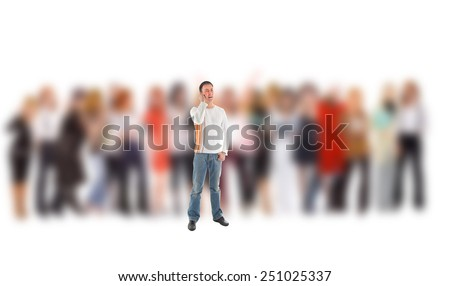 Idea Symbol Me and Them  - stock photo