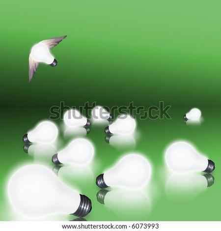 Idea takes off - stock photo