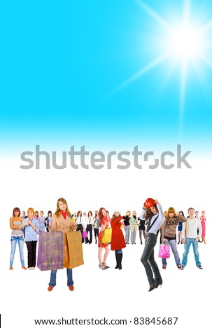 Idea unde Sun Sun Shining - stock photo