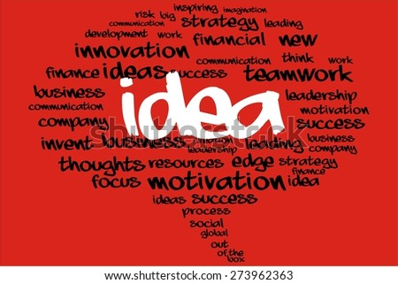IDEA word on speech bubble with business concept - stock photo