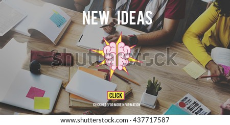Ideas Brainstorming Vision Innovation Think Big Concept - stock photo